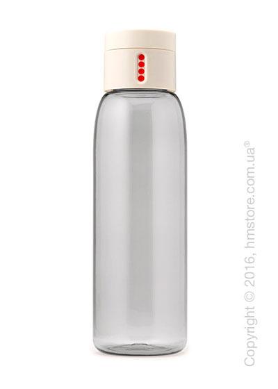 Бутылка для воды Joseph Joseph Dot with Hydration Counting Lid, White 600 мл