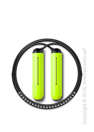 Умная скакалка Tangram Smart Rope, XS size, Black + силиконовые накладки Green Soft Grip