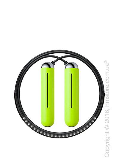 Умная скакалка Tangram Smart Rope, XS size, Chrome + силиконовые накладки Green Soft Grip