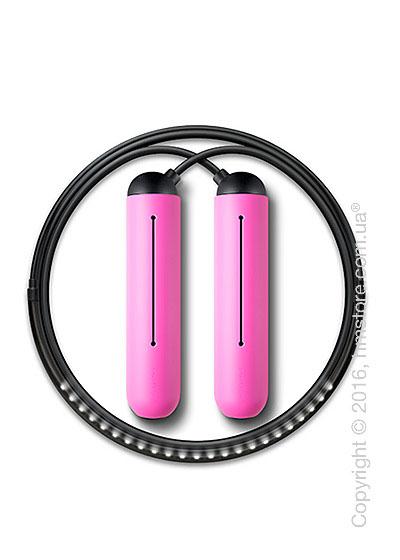 Умная скакалка Tangram Smart Rope, XL size, Black + силиконовые накладки Pink Soft Grip