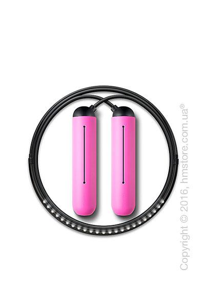 Умная скакалка Tangram Smart Rope, XS size, Black + силиконовые накладки Pink Soft Grip