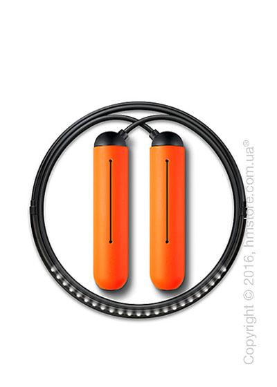 Умная скакалка Tangram Smart Rope, S size, Black + силиконовые накладки Orange Soft Grip