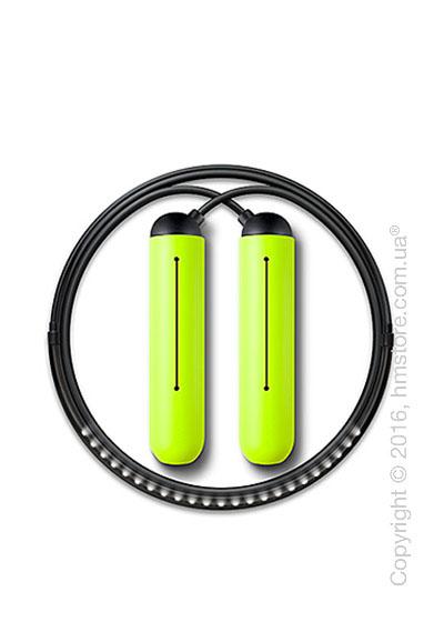 Умная скакалка Tangram Smart Rope, S size, Black + силиконовые накладки Green Soft Grip