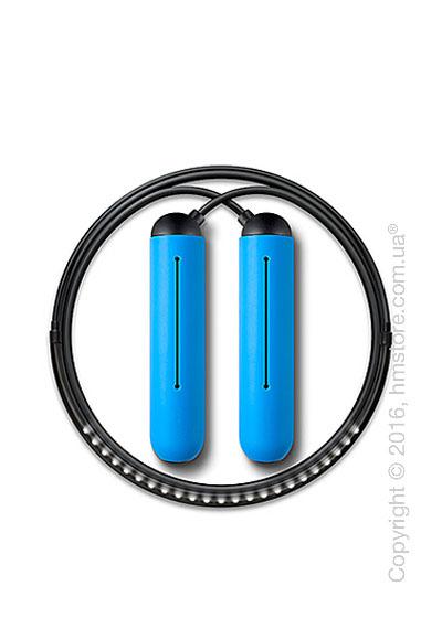Умная скакалка Tangram Smart Rope, S size, Black + силиконовые накладки Blue Soft Grip