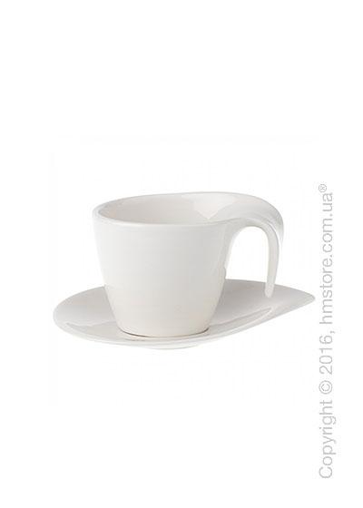 Чашка с блюдцем Villeroy & Boch коллекция Flow, 2 предмета