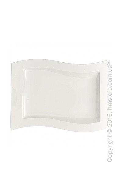 Тарелка столовая мелкая Villeroy & Boch коллекция New Wave, 33x24 см
