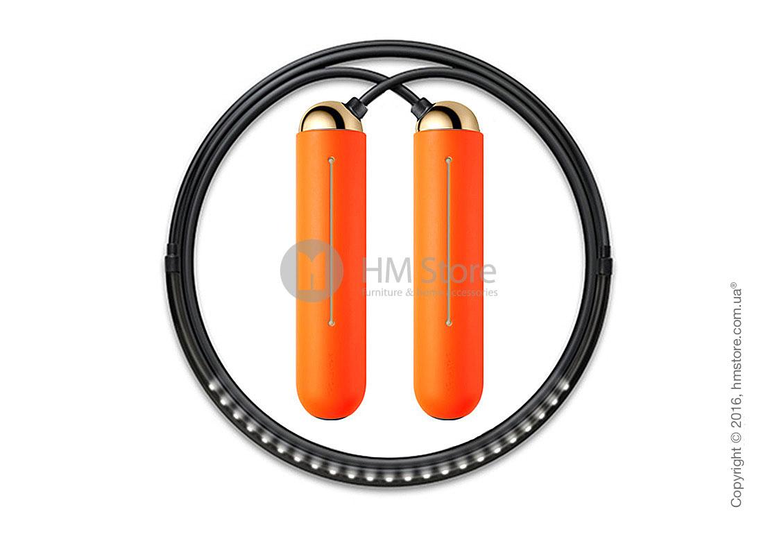 Умная скакалка Tangram Smart Rope, XS size, Gold + силиконовые накладки Orange Soft Grip
