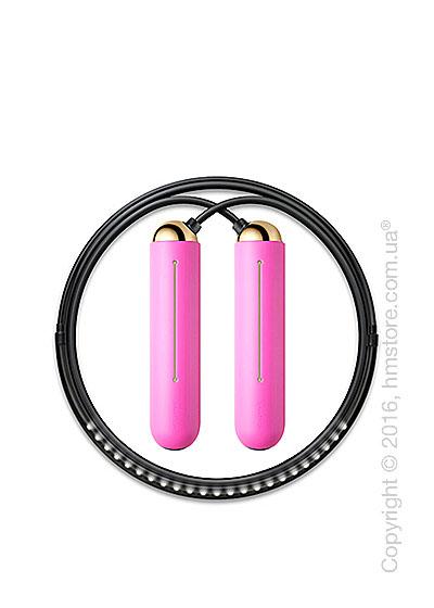 Умная скакалка Tangram Smart Rope, XS size, Gold + силиконовые накладки Pink Soft Grip