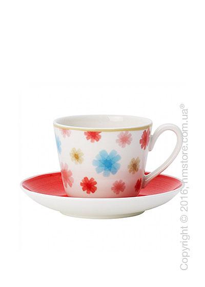 Чашка для эспрессо с блюдцем Villeroy & Boch коллекция Lina, 2 предмета, Cherry