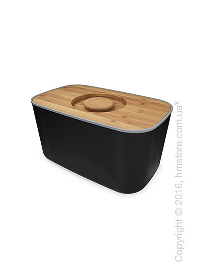 Хлебница Joseph Joseph Steel Bread Bin, Black