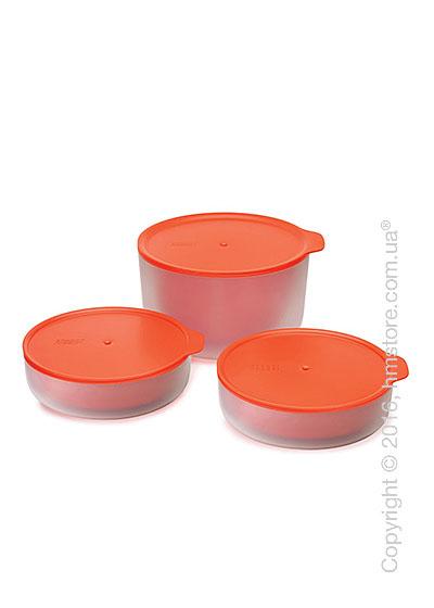 Набор емкостей для микроволновки Joseph Joseph M-Cuisine Cool-Touch Bowl Set, Orange