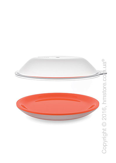 Блюдо для микроволновки Joseph Joseph M-Cuisine Cool-Touch Plate & Lid, Orange