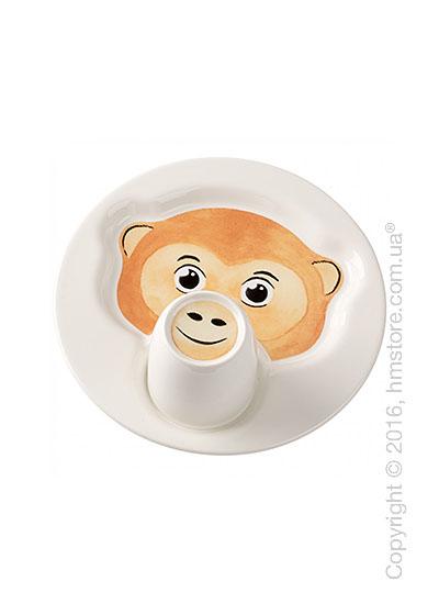 Набор детской посуды Villeroy & Boch коллекция Animal Friends, Monkey 2 предмета