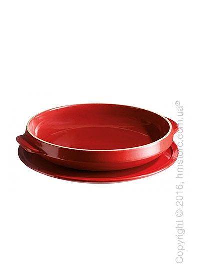 Форма для выпечки торта керамическая Emile Henry Flame Tarte Tatin Set, Burgundy