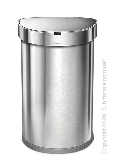Ведро для мусора сенсорное Simplehuman Sensor Cans 45 л, Brushed Stainless Steel