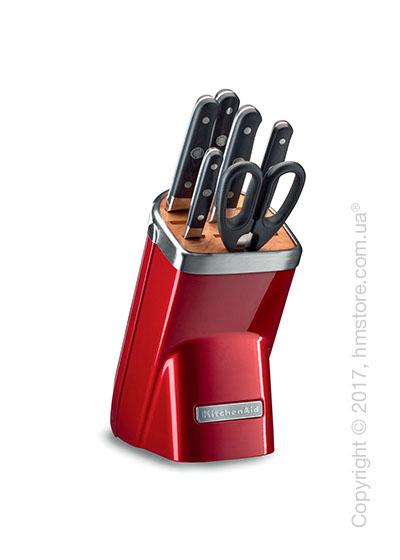 Набор ножей на подставке KitchenAid Professional Series Cutlery Set, 7 предметов, Candy Apple Red
