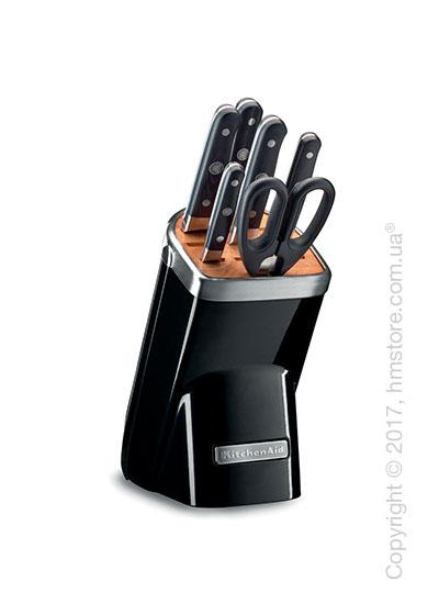 Набор ножей на подставке KitchenAid Professional Series Cutlery Set, 7 предметов, Onyx Black