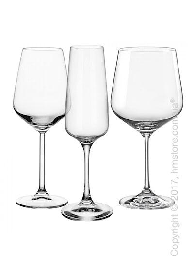 Набор бокалов для белого, красного и шампанского вин Villeroy & Boch коллекция Ovid на 4 персоны