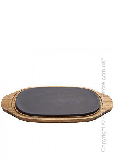 Противень керамический с деревянной подставкой Villeroy & Boch коллекция BBQ Passion