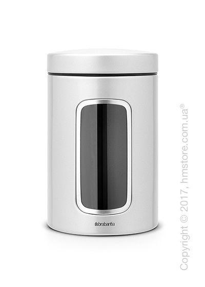 Емкость для хранения сыпучих продуктов Brabantia Window 1,4 л, Metallic Grey