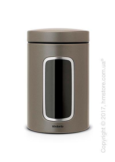 Емкость для хранения сыпучих продуктов Brabantia Window 1,4 л, Platinum