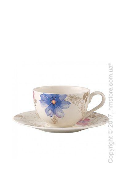Чашка с блюдцем Villeroy & Boch коллекция Mariefleur Gris Basic 390 мл