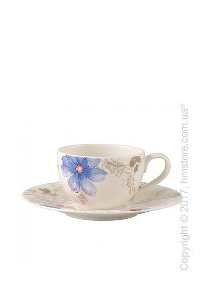 Чашка с блюдцем Villeroy & Boch коллекция Mariefleur Gris Basic 250 мл