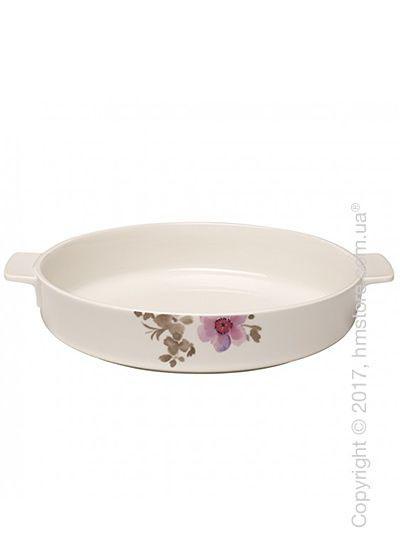 Форма для выпечки фарфоровая Villeroy & Boch коллекция Mariefleur Gris Basic 28 см
