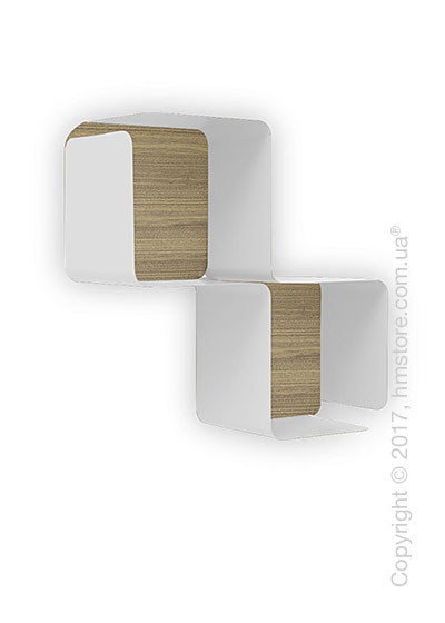 Полка Calligaris Fractal, Metal matt optic white and Melamine deco nougat