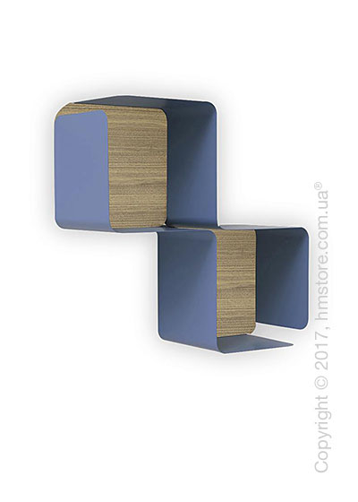 Полка Calligaris Fractal, Metal matt sky blue and Melamine deco nougat