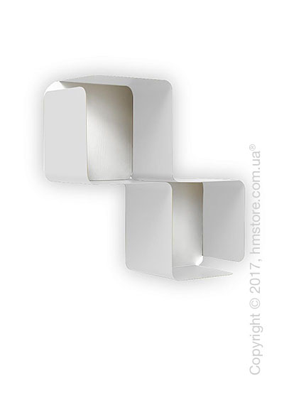 Полка Calligaris Fractal, Metal matt optic white and Melamine matt white