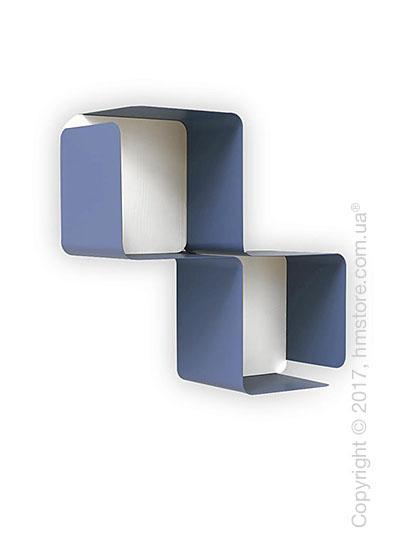 Полка Calligaris Fractal, Metal matt sky blue and Melamine matt white