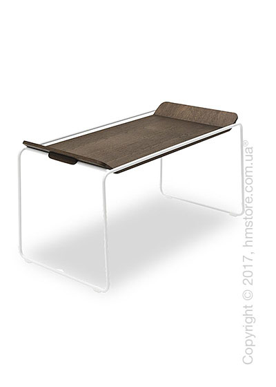 Сервировочный столик Calligaris Filo, Metal matt optic white and Veneer dark oak