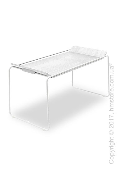 Сервировочный столик Calligaris Filo, Metal matt optic white and Opticwhite