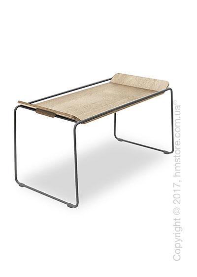 Сервировочный столик Calligaris Filo, Metal matt grey and Veneer natural oak