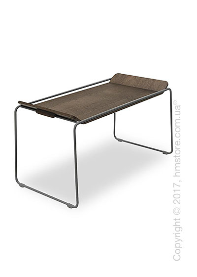 Сервировочный столик Calligaris Filo, Metal matt grey and Veneer dark oak
