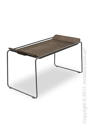 Сервировочный столик Calligaris Filo, Metal matt grey and Veneer dark oak