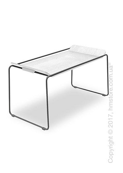 Сервировочный столик Calligaris Filo, Metal matt grey and Opticwhite