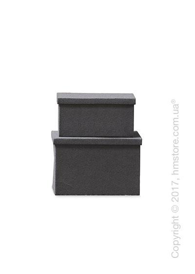 Набор ящиков Calligaris Clever, 2 предмета, Polyester felt grey