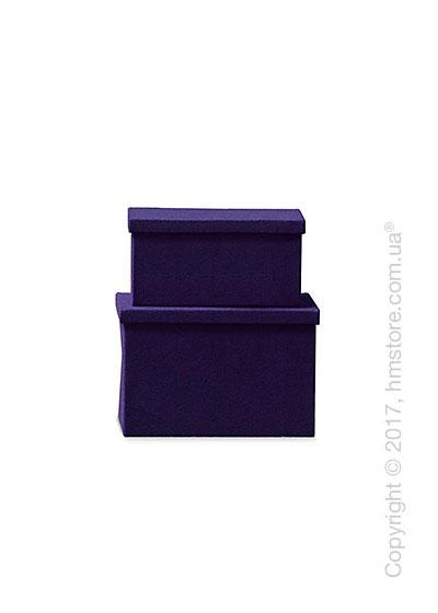 Набор ящиков Calligaris Clever, 2 предмета, Polyester felt violet