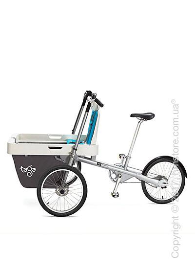 Велосипед коляска Taga 2.0 Cargo Bike, Light Blue