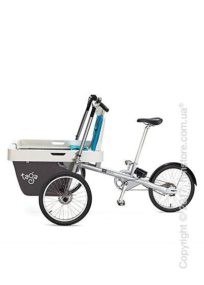 Велосипед коляска электрическая Taga 2.0 Cargo Electric Bike, Light Blue
