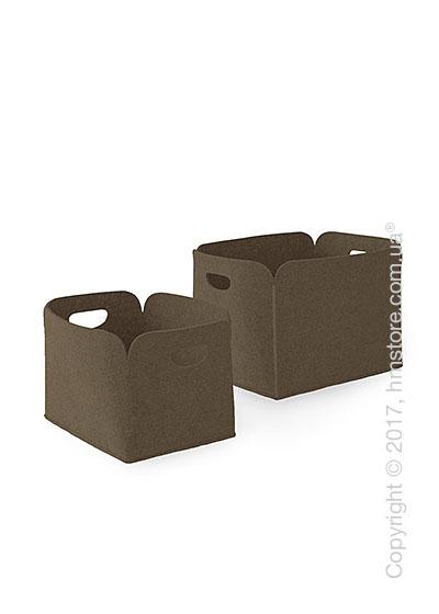 Набор корзин Calligaris Daryl, 2 предмета, Polyester felt nougat