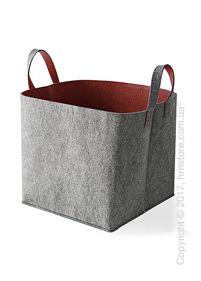 Корзина Calligaris Elliott, Polyester felt grey and Brick red