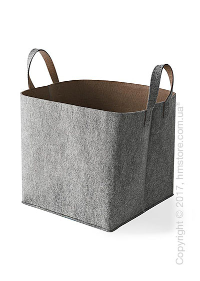 Корзина Calligaris Elliott, Polyester felt grey and Nougat