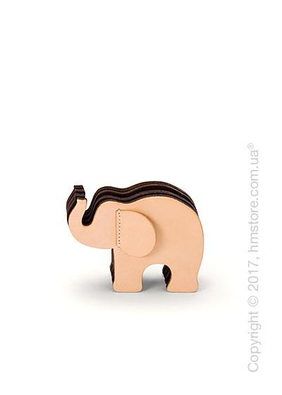 Подставка для ручек Graf von Faber-Castell, Elephant Made From Natural Leather, Small