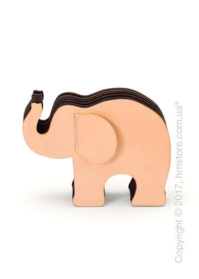 Подставка для ручек Graf von Faber-Castell, Elephant Made From Natural Leather, Big