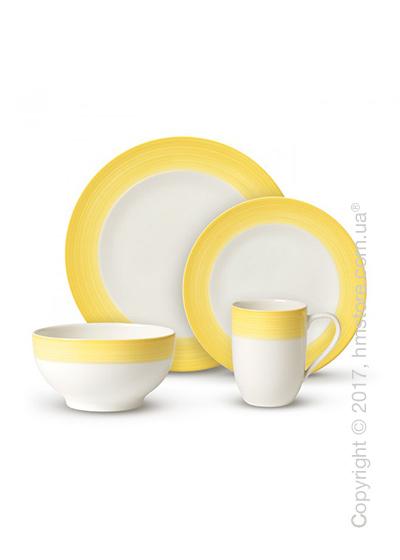 Набор фарфоровой посуды Villeroy & Boch коллекция Colourful Life на 2 персоны, 8 предметов,  Lemon Pie