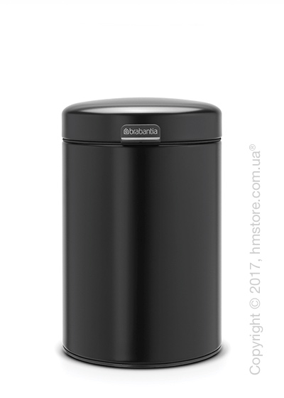 Ведро для мусора Brabantia Wall Mounted Bin NewIcon 3 л, Matt Black