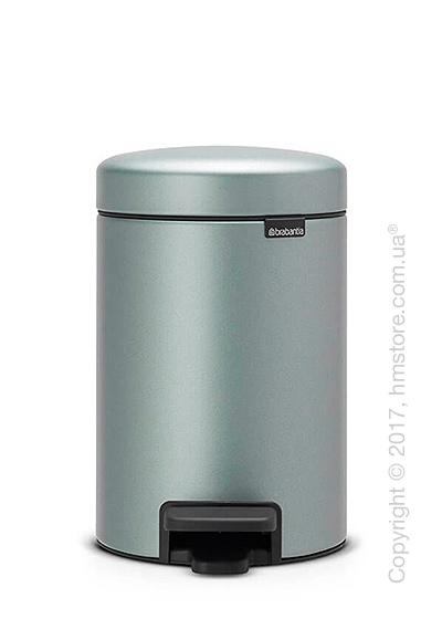 Ведро для мусора Brabantia Pedal Bin Newicon 3 л, Metallic Mint